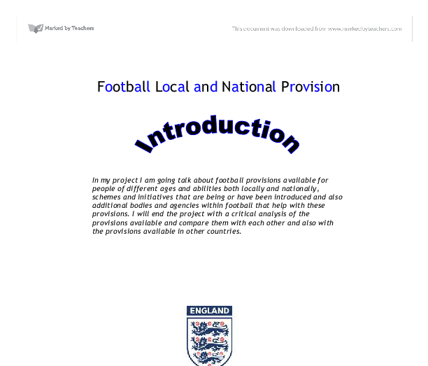 Local and national provision of sport athletics
