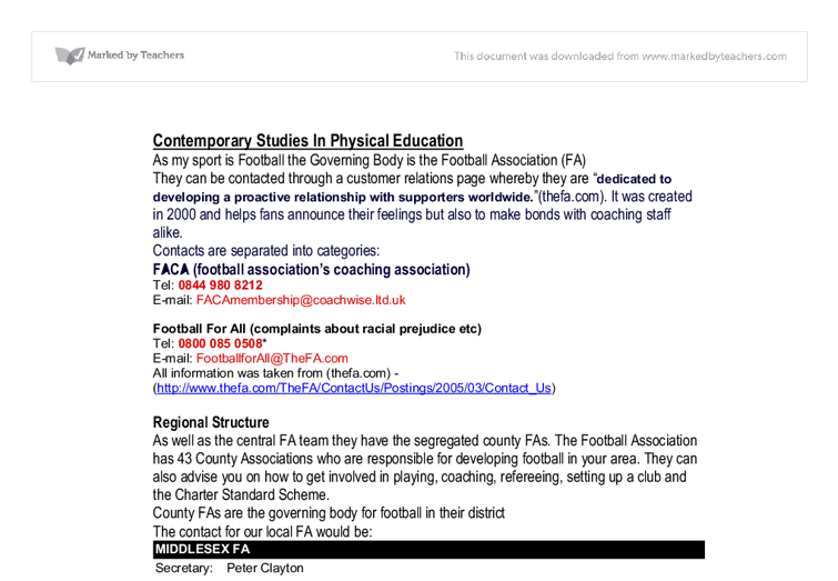 contemporary studies in physical education essay Physics education research papers on the web:  proceedings of the 2001 physics education research conference  forum on education, american physical society.