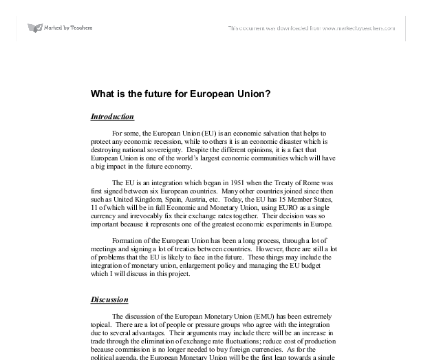 european union essay ideas
