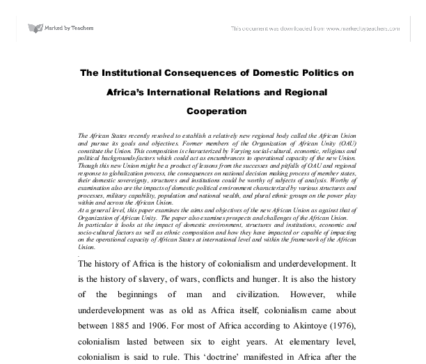 domestic politics and international relations essay Political science research paper topics part iii international relations deals with issues in domestic as well as international politics in essay writing.