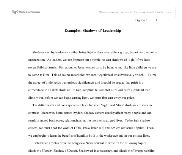 Leadership essay ideas