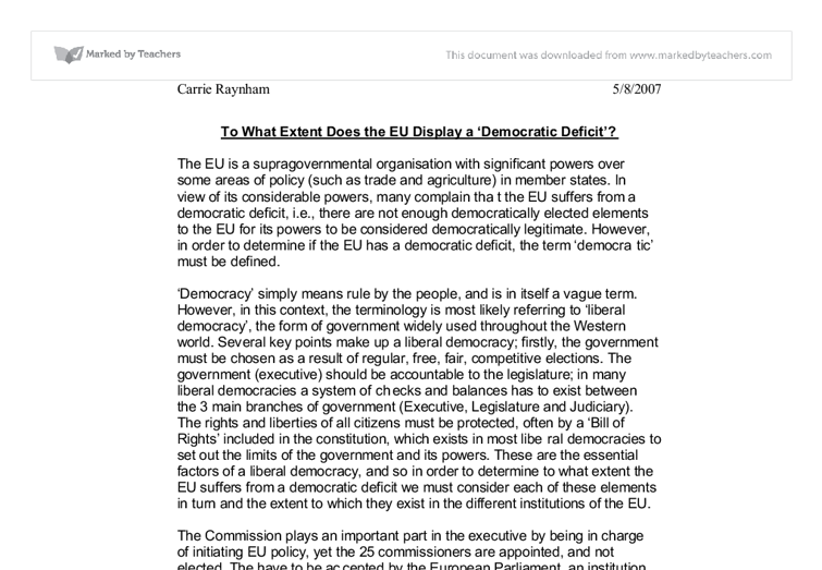 European Union Essay Sample