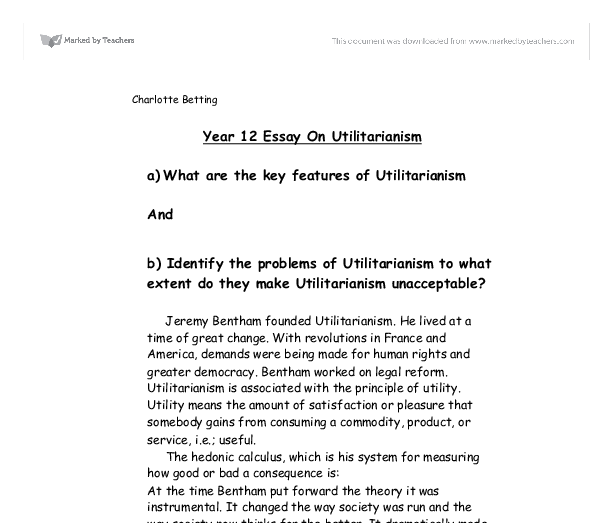 utilitarianism act utilitarianism and rule utilitarianism by ...