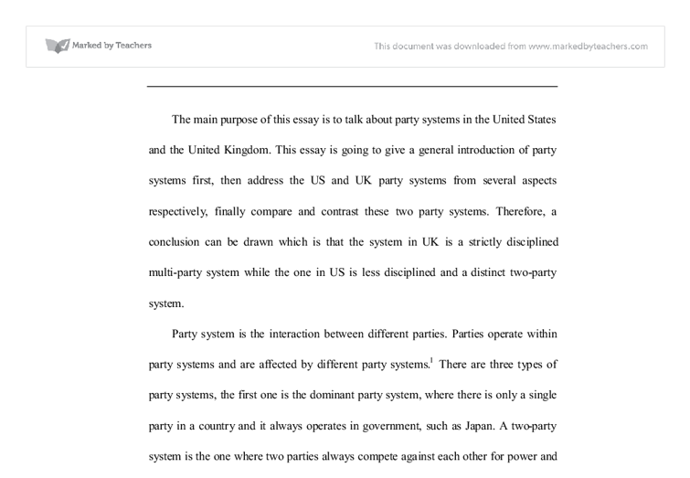 this essay is going to give a general introduction of party  document image preview