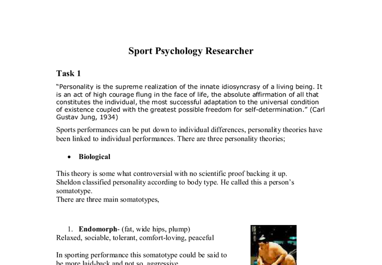 psychologhy for sports performance essay Sports psychology essaysthe level that an athlete performs on any given day depends on five main things, physical skills, and mental skills, level of technical skill, strategic awareness, and chance.
