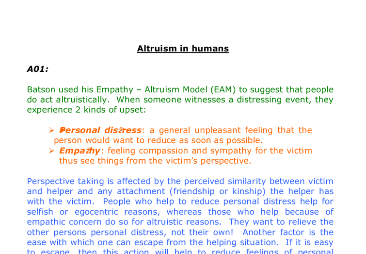 altruism essay 6 There are many ways to have students prepare for an essay essay outlining is a more traditional way, but often results in students focusing on the content they will use, rather than the critical thinking and discussion which is essential in an ib essay the student worksheet below is a sample.