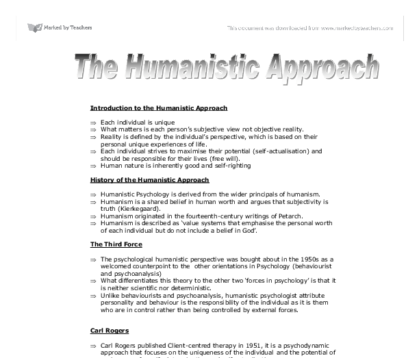 Humanistic workplace paper
