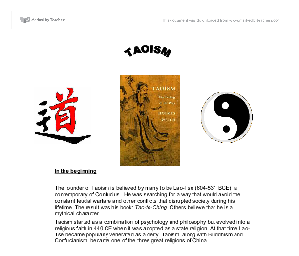 a study on taoism and buddhism beliefs In ancient china, confucianism, buddhism and taoism had a very drastic   countries from everywhere, studying oversea, even convert from one religion to.