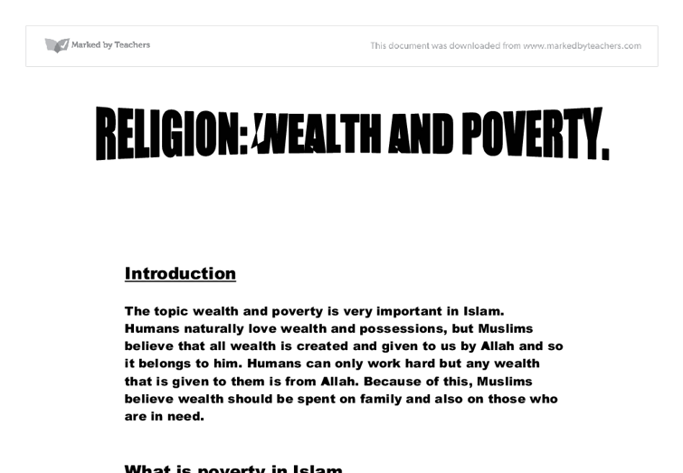 poverty in islam essay