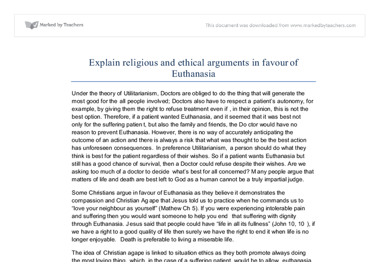 an argument in favor of euthanasia in the united states An argument for euthanasia essay 2009 words | 9 pages an argument for euthanasia euthanasia is defined as, the act or practice of putting to death painlessly a person suffering from an incurable disease euthanasia can be traced back as far back as the ancient greek and roman civilizations.