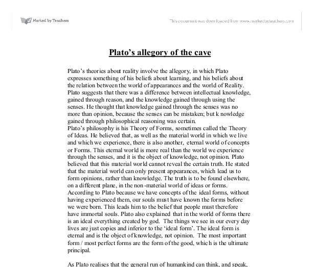 "the allegory of the cave comparison essay Read this full essay on the matrix and the allegory of the cave by plato the  matrix and the cave there are numerous similarities between the matrix and "" the."