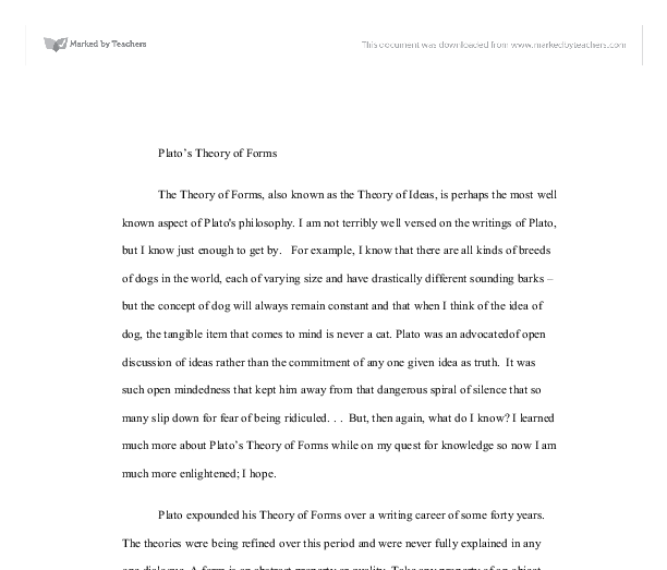 plato essay forms 2018-4-29  cambridge core - ancient philosophy - plato's introduction of forms - by r m dancy.