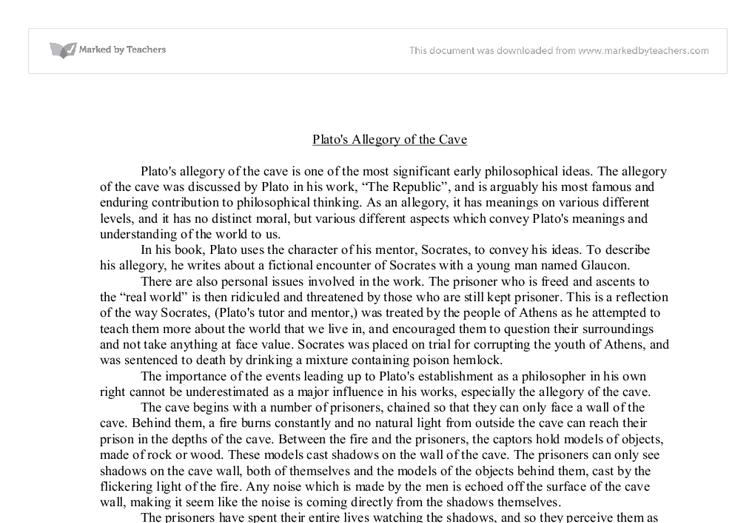 plato s allegory of the cave a level religious studies  document image preview
