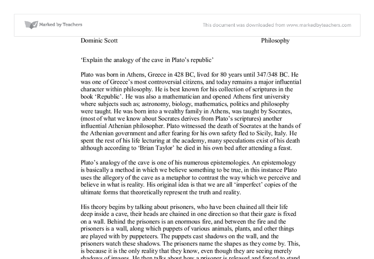what is a good thesis statement for plato Sample thesis statements for  please e-mail me the topic of your paper and your thesis statement by  another good technique is to try to think of possible.