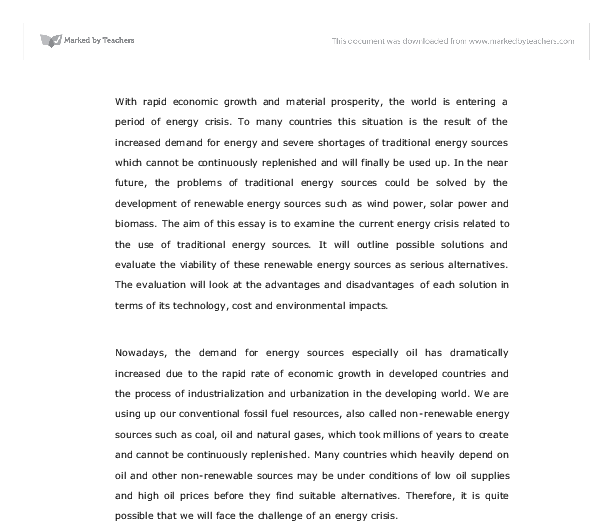 Renewable Energy Research Paper