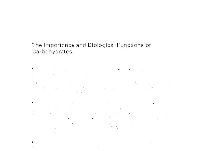 the importance and biological functions of carbohydrates a  document image preview