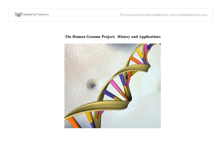 essay on the human genome project
