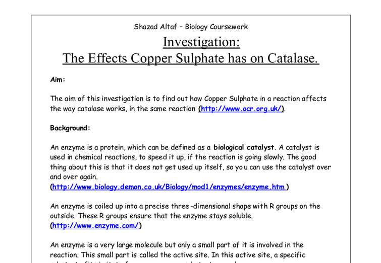 influence of ph on the activity of potato catalase essay Catalase is quite a rare and popular topic for writing an essay catalase activity potato catalase the purpose of this lab is to determine the influence of ph.