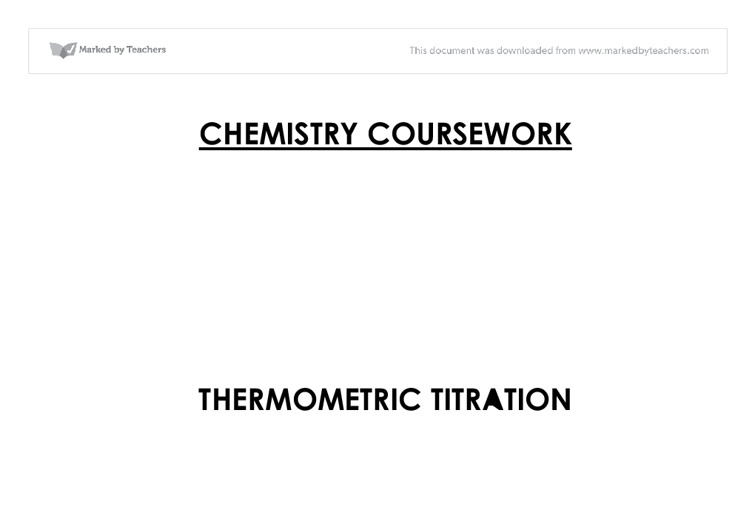 titration a level chemistry coursework 31 standard solution 32 weighing results 33 titration 34 calculations 4 risk assessment 5 observations and measurements 6 interpretation, calculation and evaluation of results 61 exercise based on minewater scenario 7 experimental work for scenario 1 71 experiment 1: preparing the primary standard.