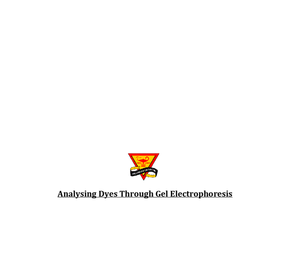 analysing dyes through gel electrophoresis essay They are then passed through an affinity column in which an agarose gel has an attached spacer arm  through the analysis of indels present in 17 genes and their.