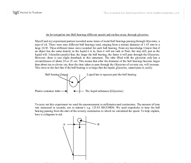 physics ball bearing investiagtion essay Internal friction is what allows you to build up an oil wedge in rotating machinery that relies on a wedge of oil to separate the metal shaft and whatever the bearing surface happens to be, or the ball bearings from the inner and outer race.