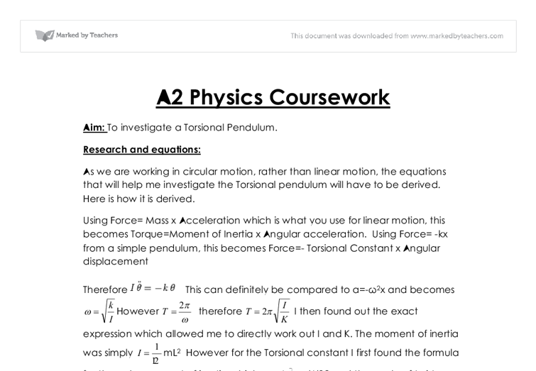 a level physics coursework on rowing essay Many students need help with essay writing our service includes writing coursework at any level chemistry or physics.
