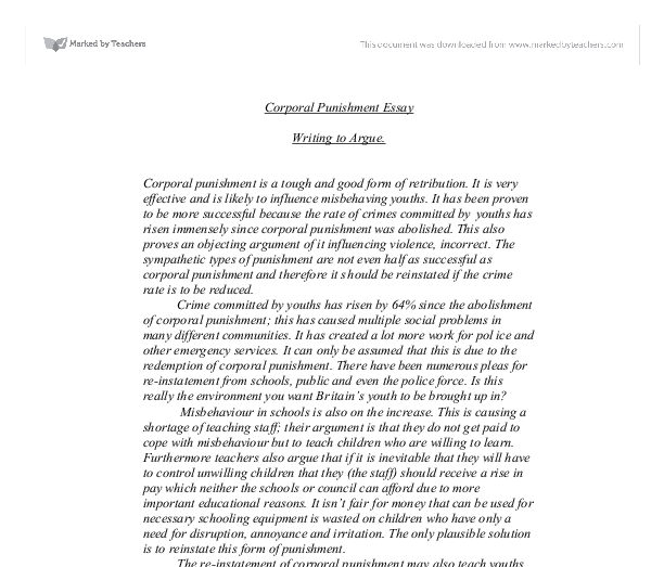 Milfan argumentative essay on corporal punishment