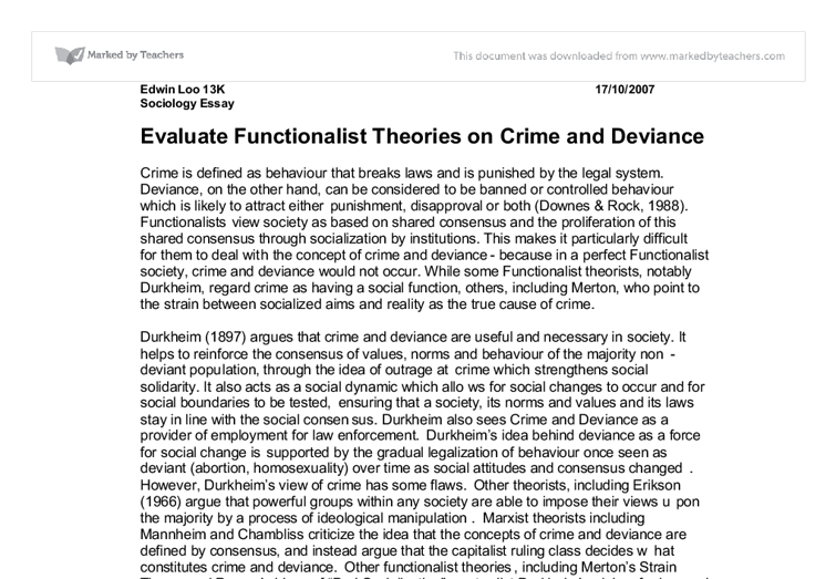 crime and deviance essay plans Crime and deviance complete notes for a level included are all notes for every topic in the crime and deviance module including powerpoints, flashcards, essay plans and table summaries of each key sociological perspective.