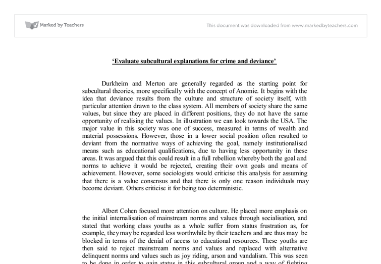 subculture theory evolves essay Violent subcultures by ferracuti and wolfgang buy custom violent subcultures by ferracuti and wolfgang essay ferracuti's theory of subculture of violence.