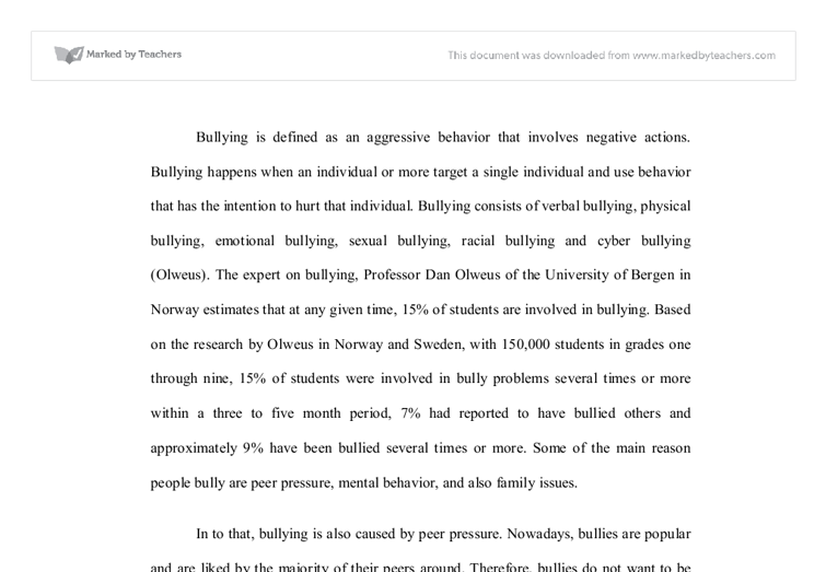 essay about bullying spm resorts
