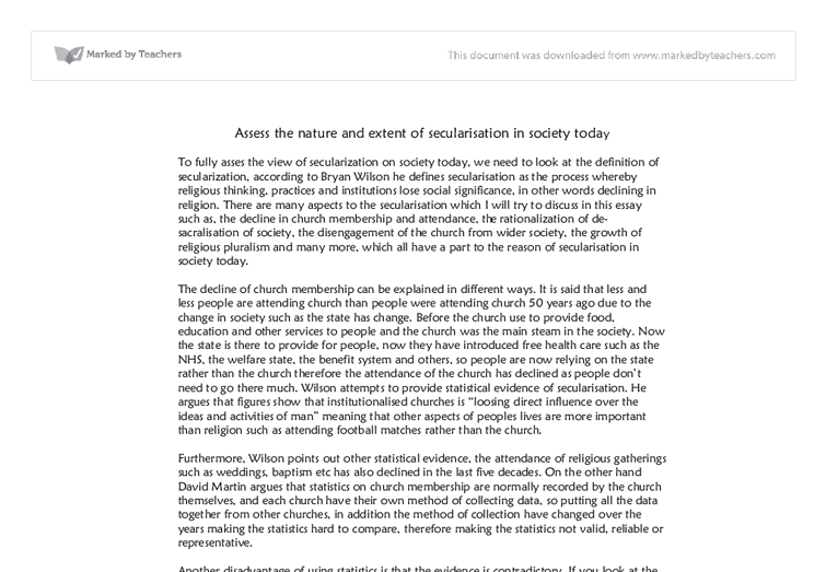Secularisation sociology essay help