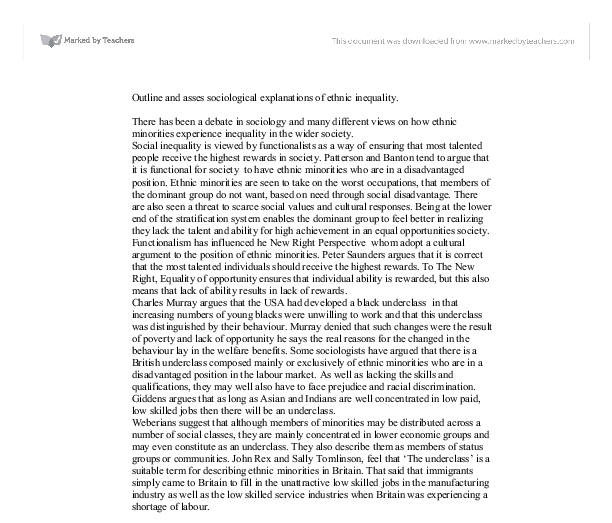 Explanations for inequality essay