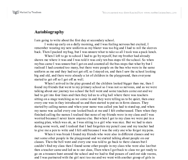 Essay of autobiography of a soldier free essays