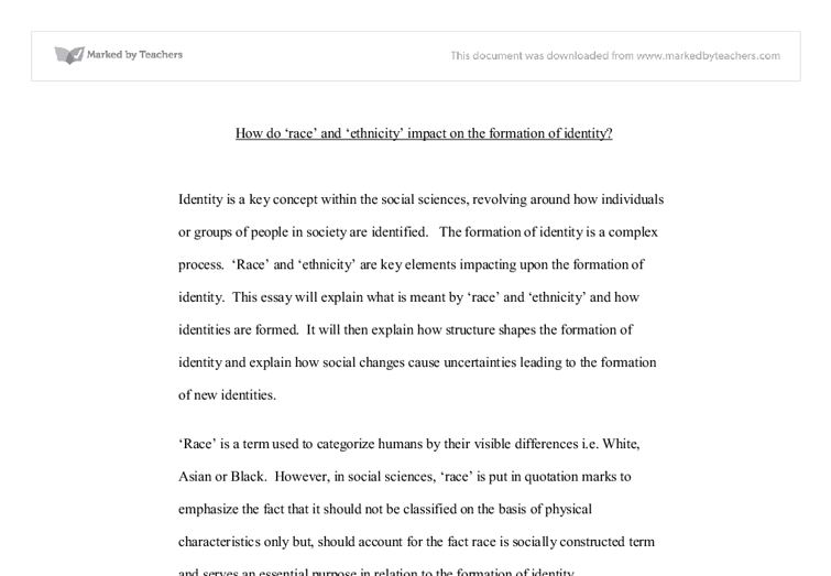 how do race and ethncity impact on formation of identity a  document image preview