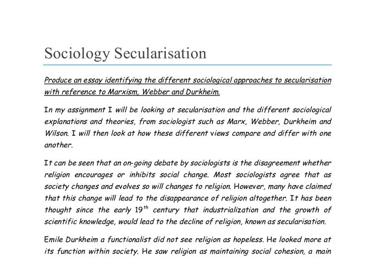 religion and its functions within a society I social stratification a • marx argued that the class in power imposes its ideology on the entire society the functions of social stratification 1.