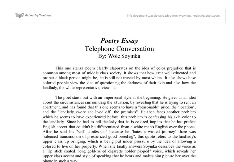 essay on telephone