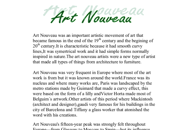 art coursework art nouveau gcse art marked by teachers com document image preview