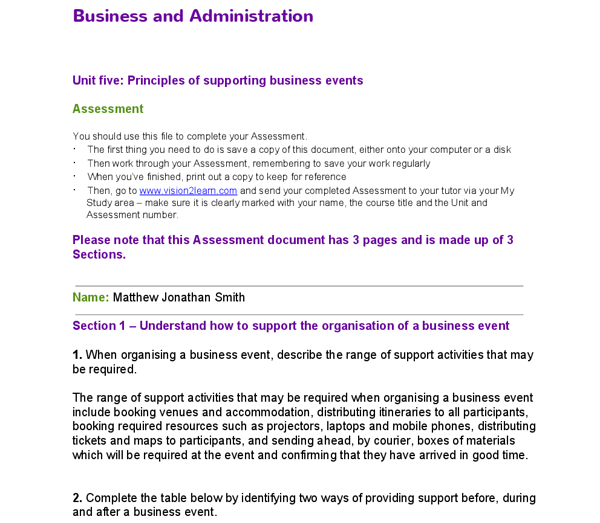 business and administration level 2 unit Knowledge questions and answers nvq business and  administration level 2: module 201 1) why effective communication is  important.