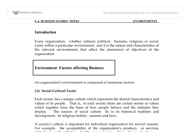 Environmental factors affecting business in south africa