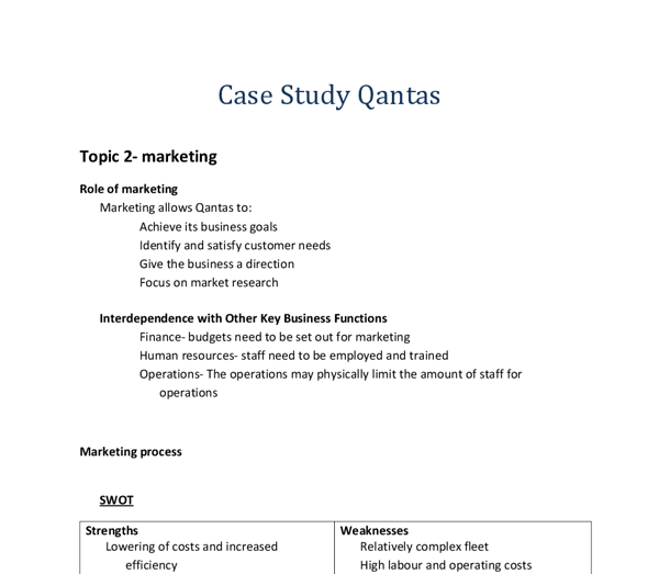 business case study analysis