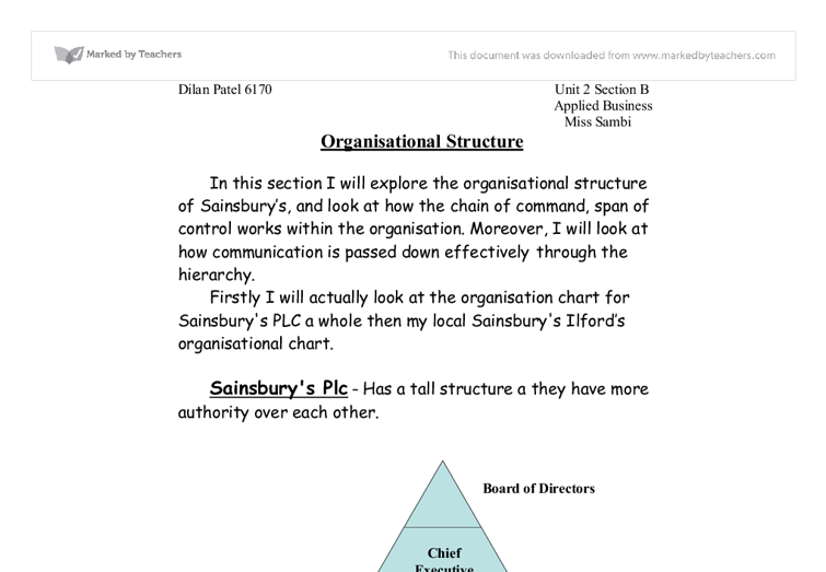 Compare and contrast different organisational structures and culture