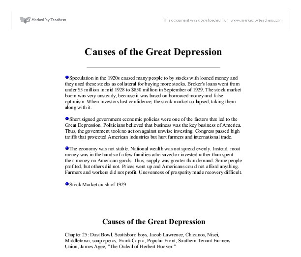 great depression cause and effect essay << term paper academic  great depression cause and effect essay