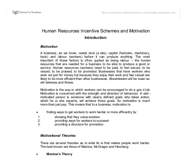 human motivation essay Free human motivation papers, essays, and research papers.