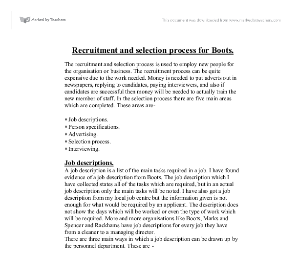 team recruitment and selection reflections essay Human resource reflective paper the recruitment, and selection  place your order now for a similar paper and have exceptional work written by our team of.