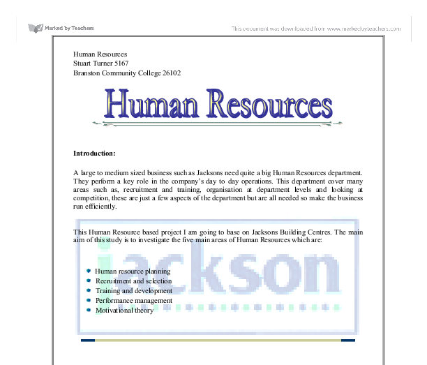 Human Resources turnitin free