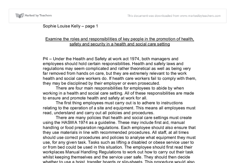 employment responsibilities and rights in health and social