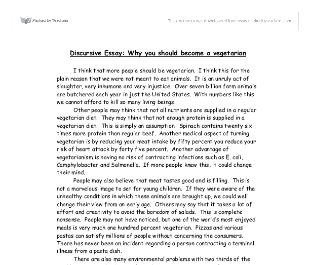 Discursive Essays Good Examples