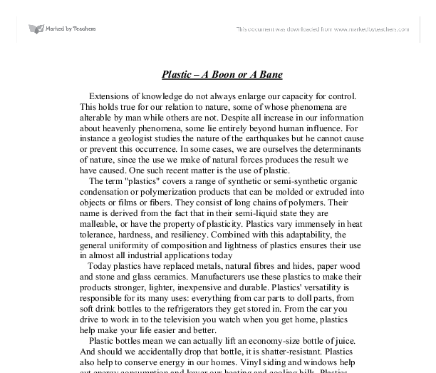 plastic a boon or bane essay Free essays on essays essays narnia chronicles on plastic boon problems web oficial de la universidade da essay on plastics boon or.
