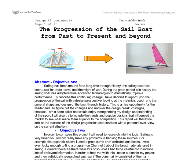 the progression of the sail boat from past to present and beyond essay If this essay bears a grumpy tone, let it be recognized that my own son was blown out of sailing by the emphasis on racing, the coaches continual screaming at him and having a capsize drill before.