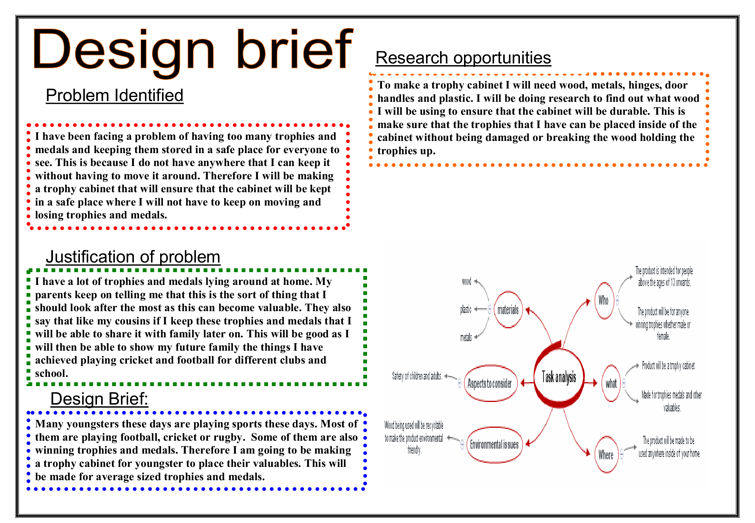 Design Brief - GCSE Design & Technology - Marked by ...